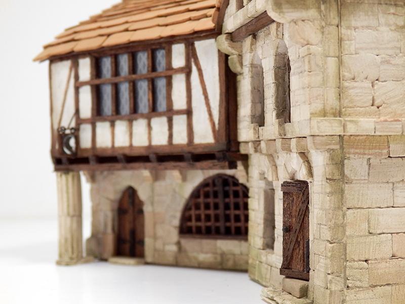 Village médiéval fortifié 14è- bastide - éch1:87 Pb210029