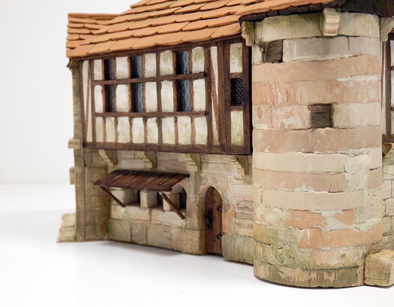 Village médiéval fortifié 14è- bastide - éch1:87 Pb210031