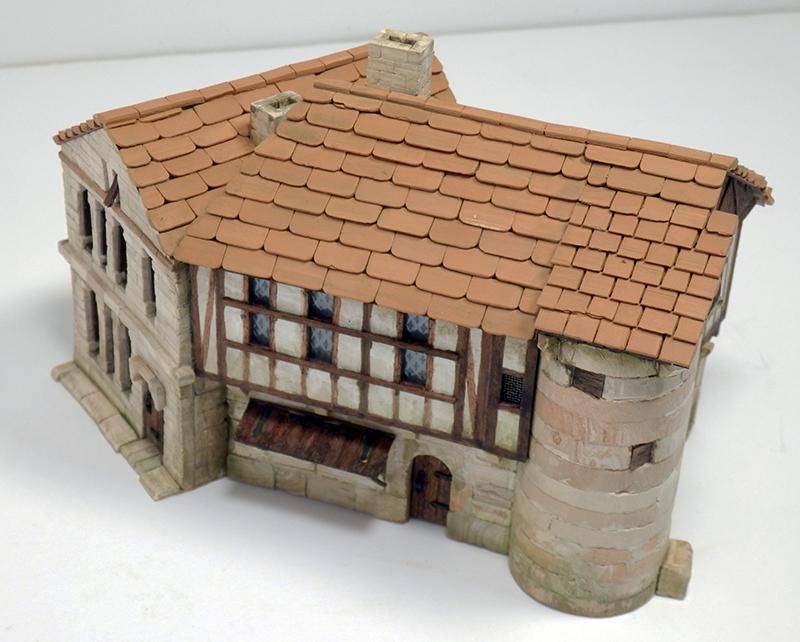 Village médiéval fortifié 14è- bastide - éch1:87 Pb210032