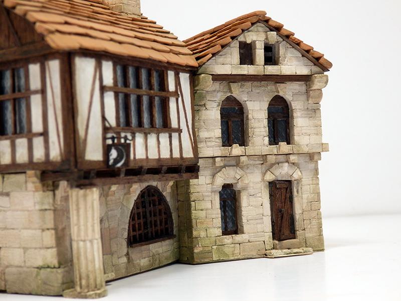 Village médiéval fortifié 14è- bastide - éch1:87 Pb210033