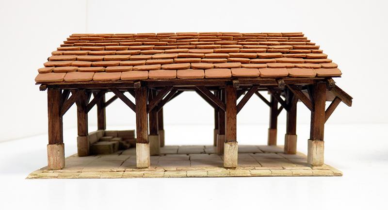 Village médiéval fortifié 14è- bastide - éch1:87 Pc190041