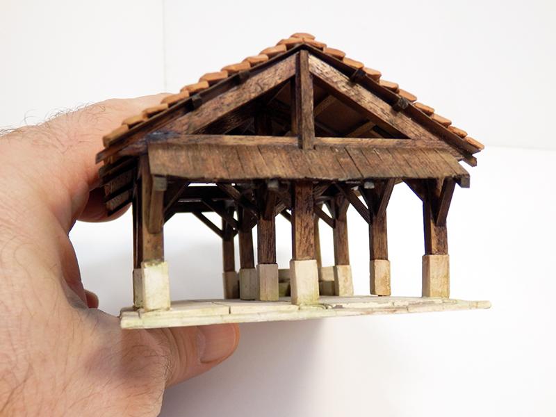 Village médiéval fortifié 14è- bastide - éch1:87 Pc190044