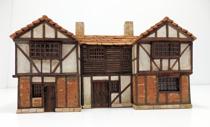 Village médiéval fortifié 14è- bastide - éch1:87 Pc190049