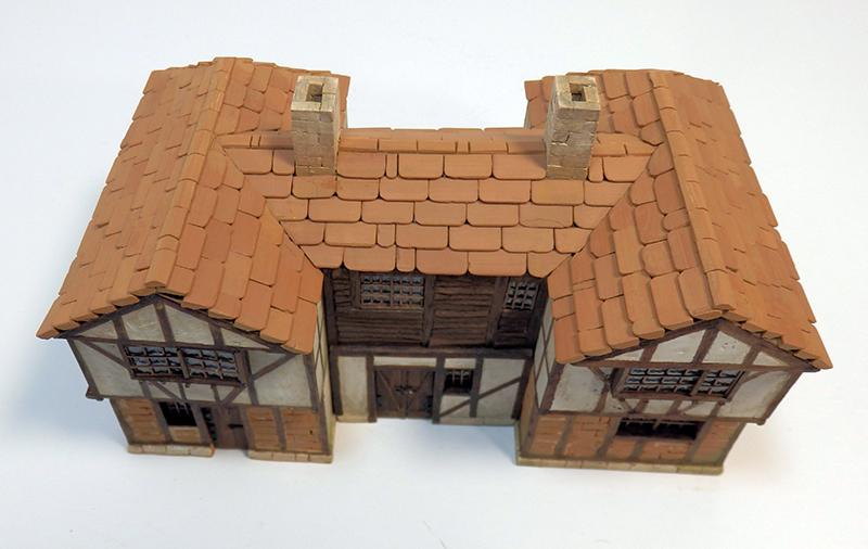Village médiéval fortifié 14è- bastide - éch1:87 Pc190051