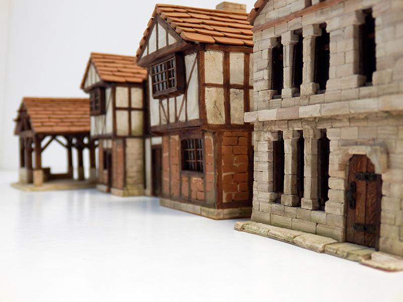 Village médiéval fortifié 14è- bastide - éch1:87 Pc190056