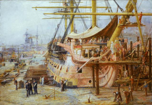 victory - VICTORY 1737 - éch 1/84 - inspiré du Victory 1737-1744 Restor10