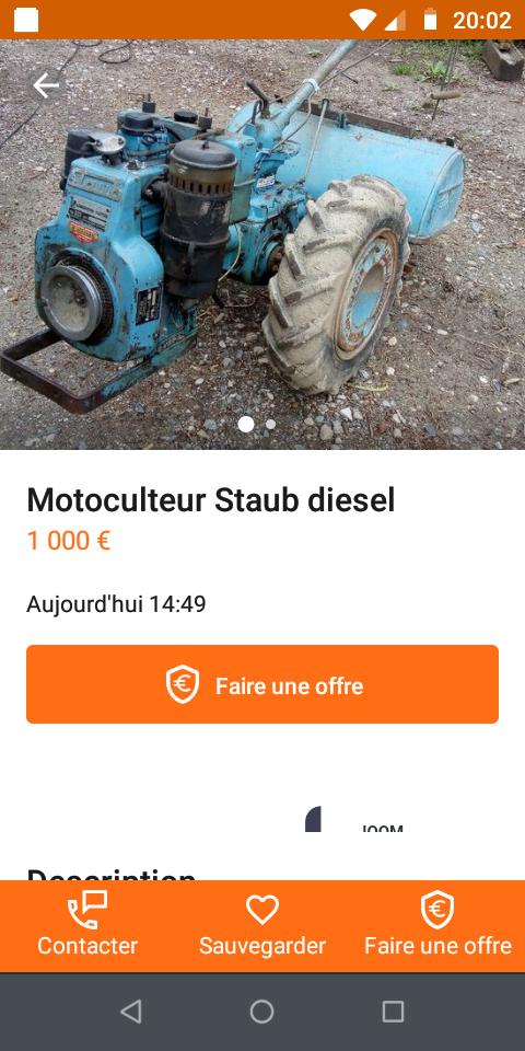 Annonce DESACTIVEE  Staub Diesel peu cher en Côte d'Or  Screen16