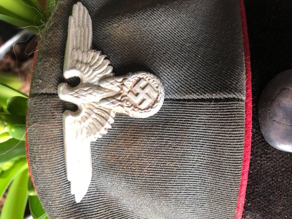 Casquette a vissière de la Waffen SS / Artillerie  Unifor15