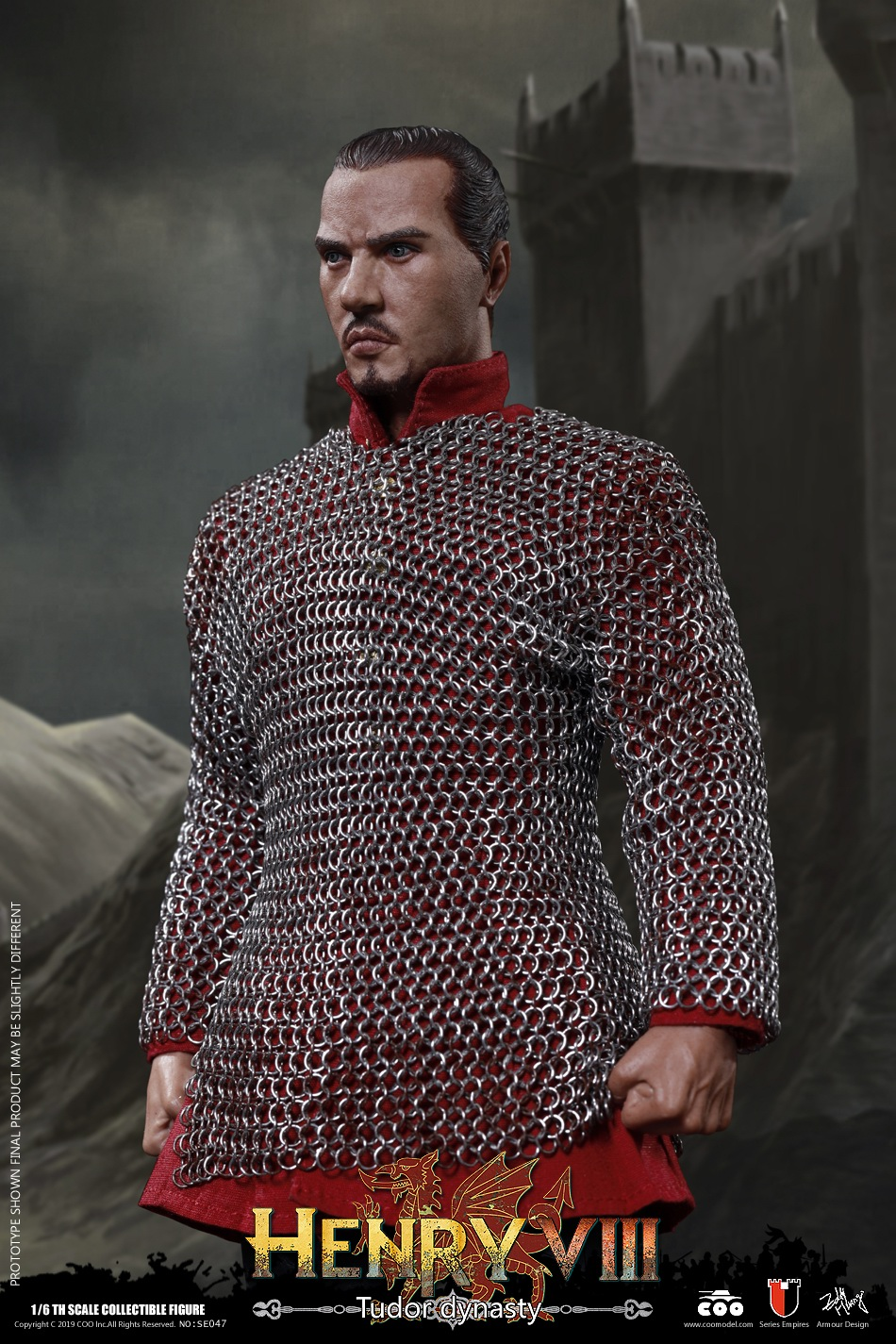 CooModel - NEW PRODUCT: COOMODEL: 1 / 6 alloy die-casting empire series - Henry VIII Lions version of the red dragon version of the Tudor version of the Wolf Hall scene 00364011