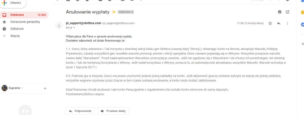 Slottica Casino - wypłaty i weryfikacja Dymani10