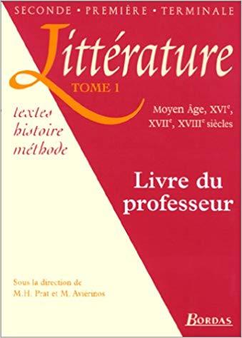 Cherche Livres Du Professeur Litterature Bordas Tomes 1 Et 2