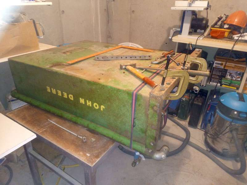 Restauration presque finie d'un JD 100 + remorque 80 de 1975 80-02-12