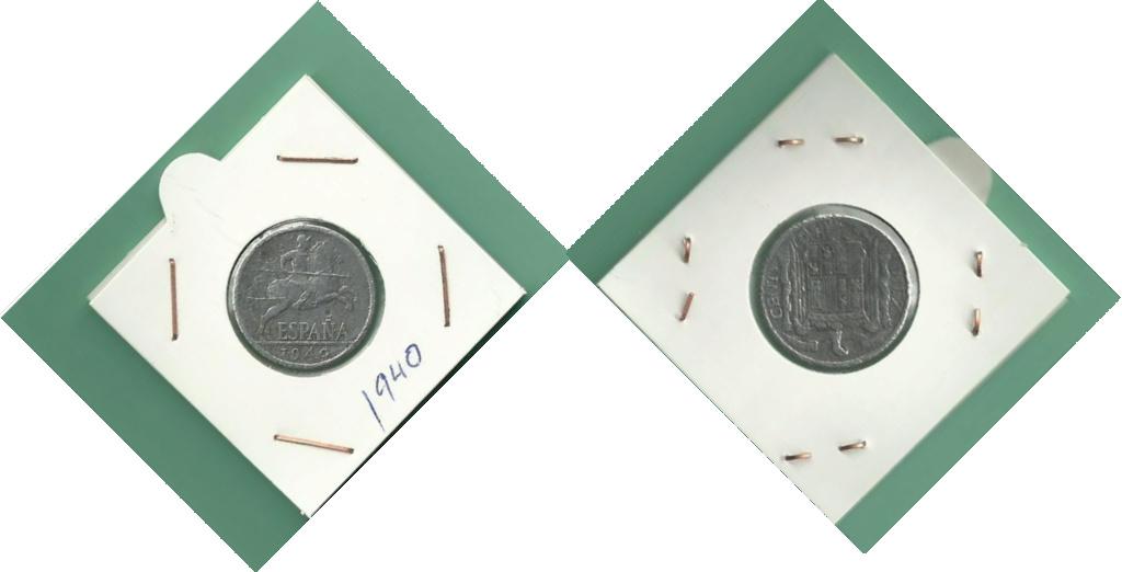 10 céntimos 1940 Reverso girado Combin11