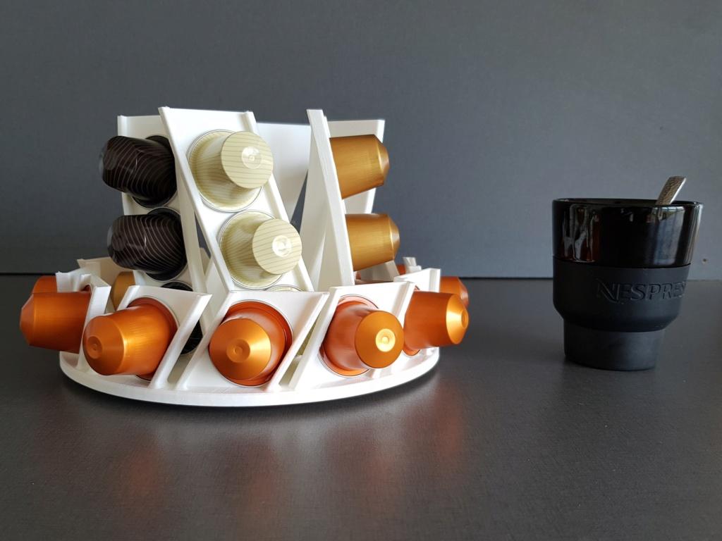 Présentoir rotatif pour capsules à café Nespresso 110