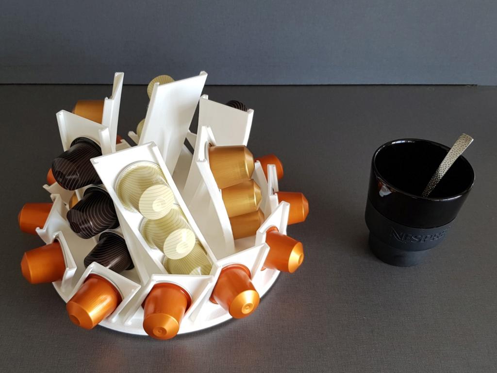 Présentoir rotatif pour capsules à café Nespresso 210