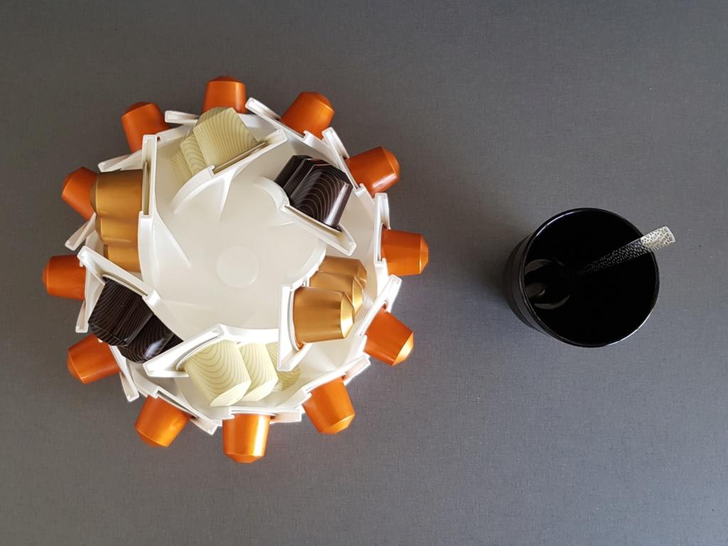 Présentoir rotatif pour capsules à café Nespresso 310