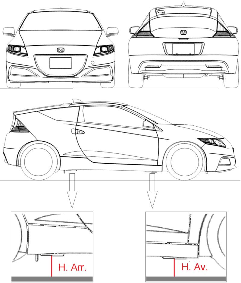 Recensement hauteur de caisse (OEM/Eibach/Combiné) Honda-10