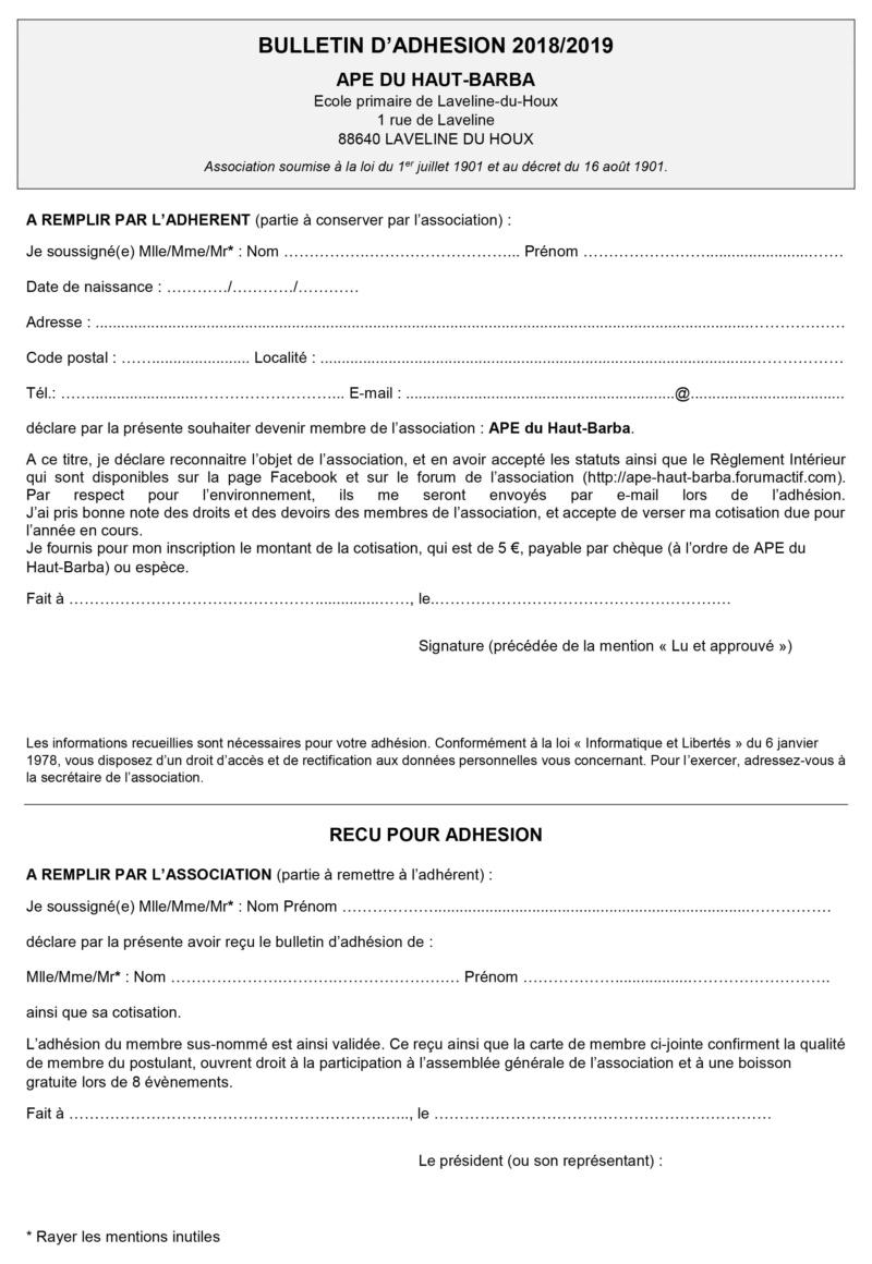 Bulletin d'adhésion Bullet11