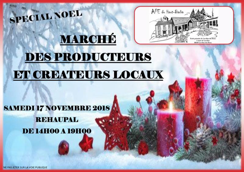 Marché des créateurs 17/11/18 14h-19h Rehaup11