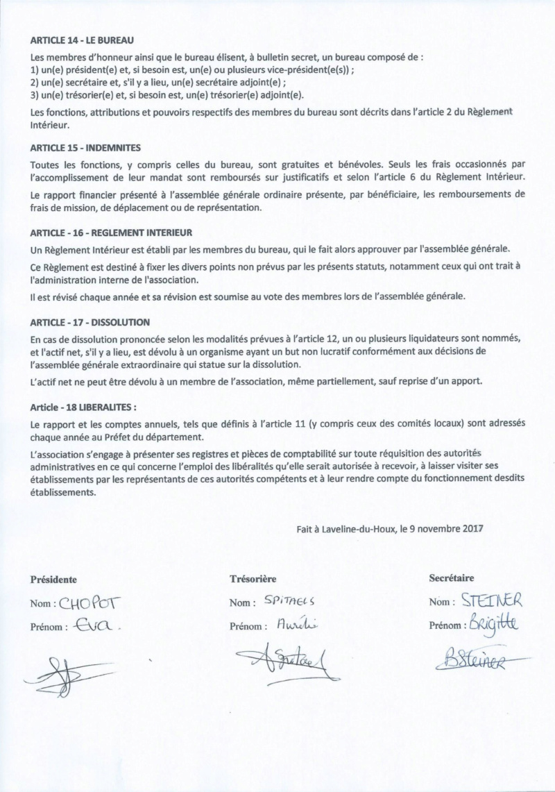 Statuts de l'association  Statut11