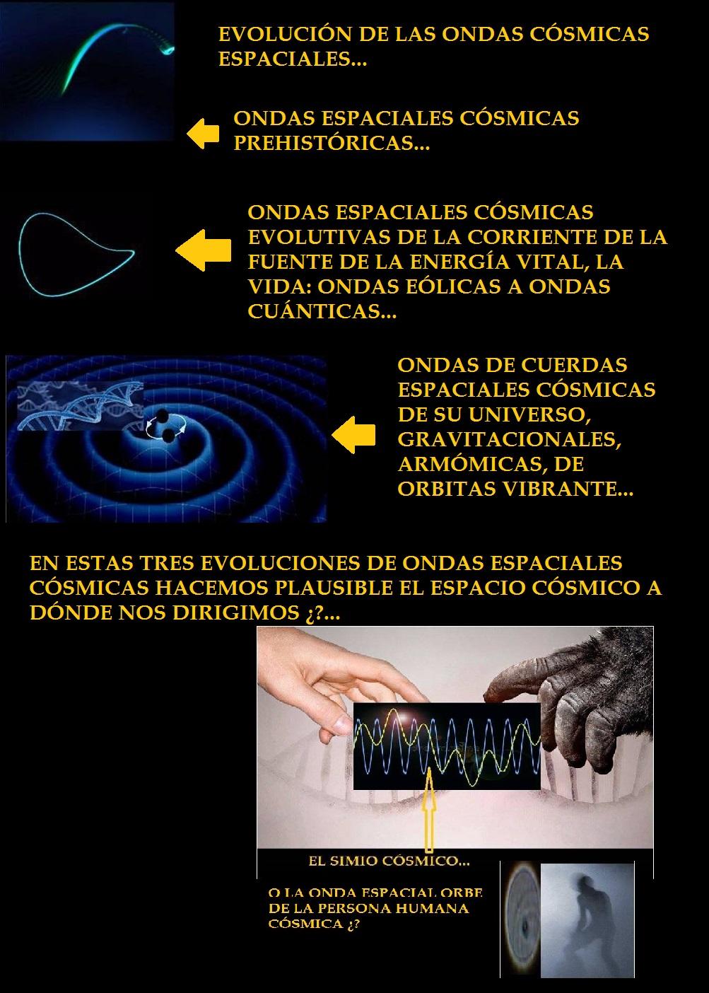 EVOLUCIONAMOS PLAUSIBLE MENTE DE LAS ONDAS ESPACIALES CÓSMICAS PREHISTÓRICAS Y HEMOS LLEGADO A LAS ONDAS ESPACIALES CÓSMICAS GRAVITACIONALES... Imagen11