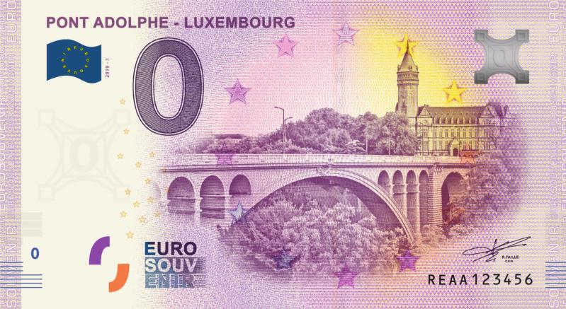 [Collecte expédiée] Lux - REAA - Pont Adolphe - Luxembourg - 2019 Fra_re10