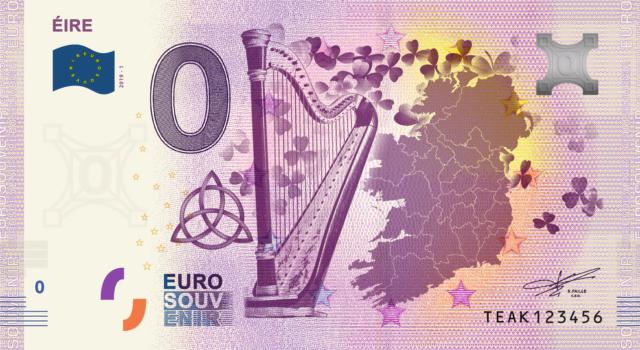 [Quadruple collecte expédiée] Irlande - 4 billets - 2019 Fra_te12