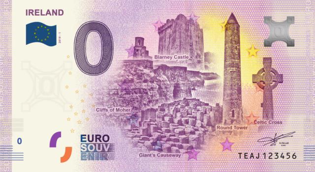 [Quadruple collecte expédiée] Irlande - 4 billets - 2019 Fra_te13