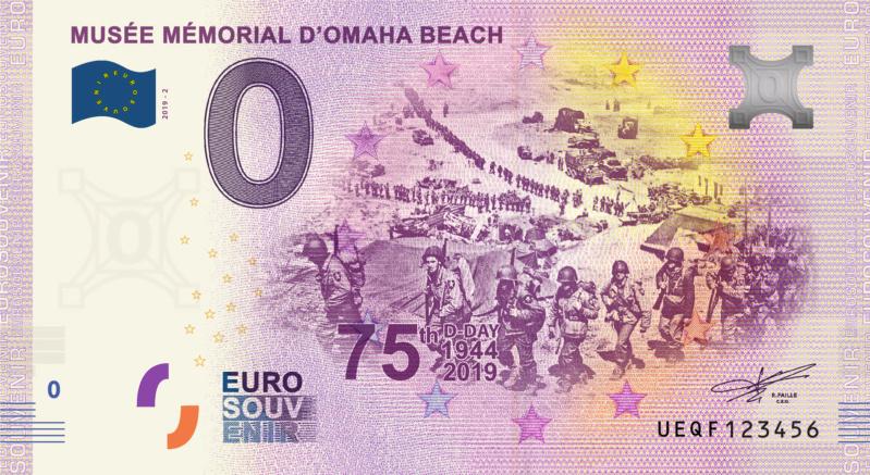 [Collecte Expédiée] Billet SAINT - LAURENT SUR MER - Musée Mémorial d'Omaha Beach - 2019-2 Fra_ue49