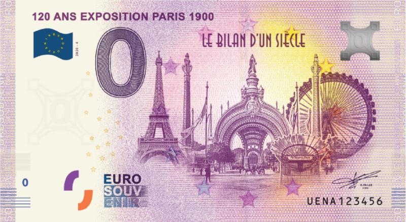 [Collecte expédiée] 75 - UENA -  120 ans exposition Paris 1900 -  2020   Uena-211