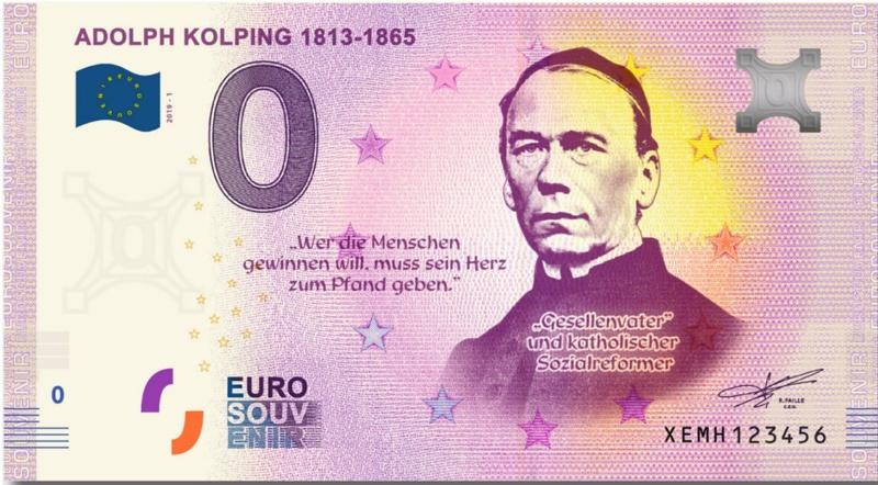 Collecte expédiée [Allemagne] Billet Adolph Kolping 1813-1865 XEMH Xemh_a10