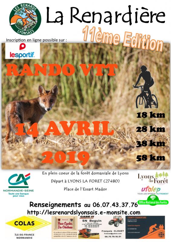(14/04/2019) La Renardière  11ème édition  Affich10