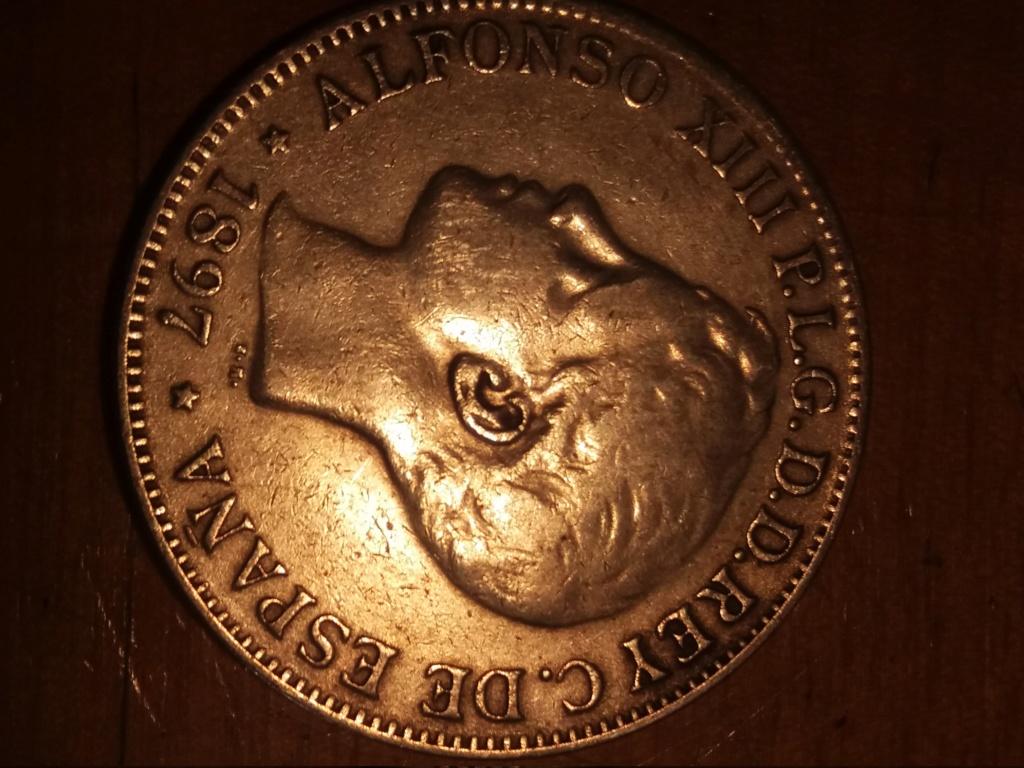 1 Peso 1897 Filipinas 20180711