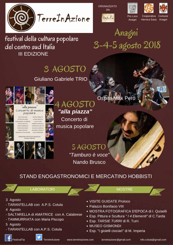 TerreInAzione 3° Festival cultura e musica popolare Anagni (FR) Lazio Terrei10