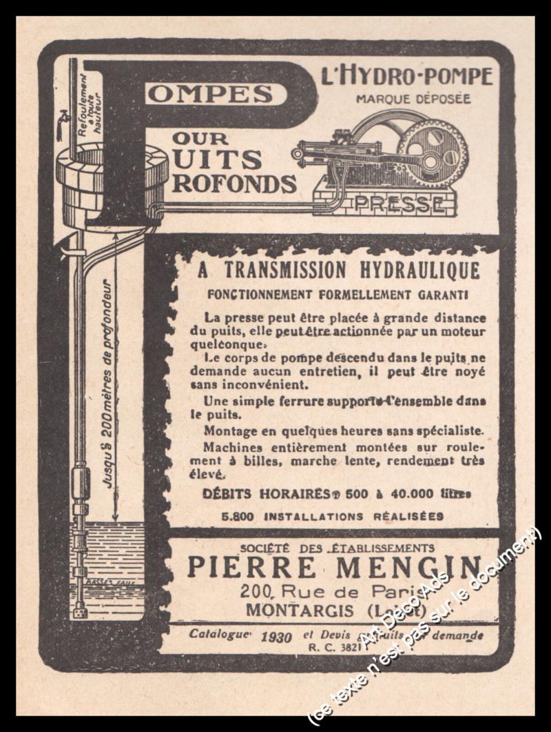 Pompe Pierre Mengin  S-l16010