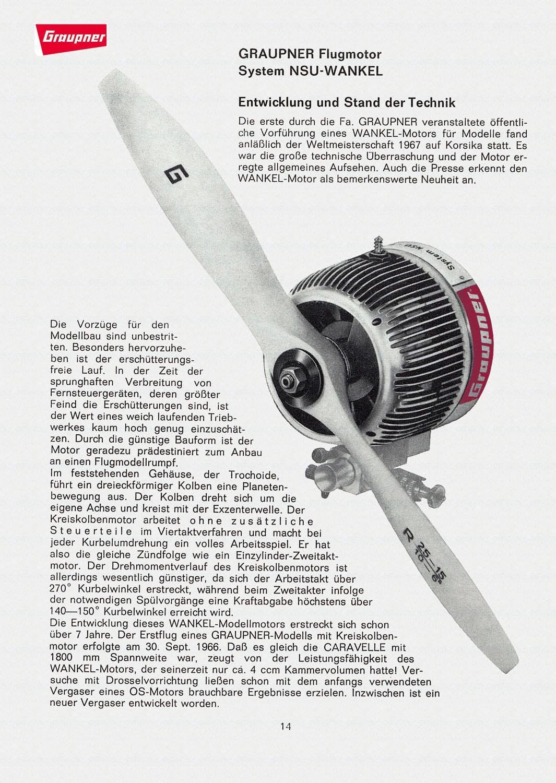 Graupner Wankel Typ 7/67 Prototype 7-67-210