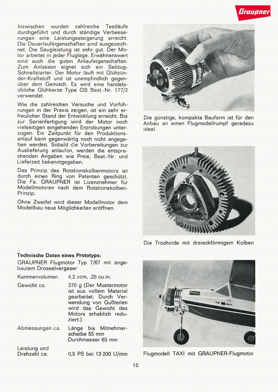 Graupner Wankel Typ 7/67 Prototype 7-67-310