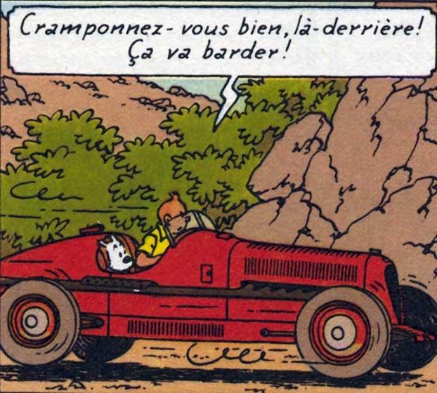 Tintin's Alpha Romeo P3 7802c010