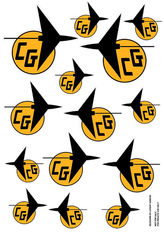 Carl Goldberg Models Emblem & Hi Thrust Viking Decals Cgoldb10