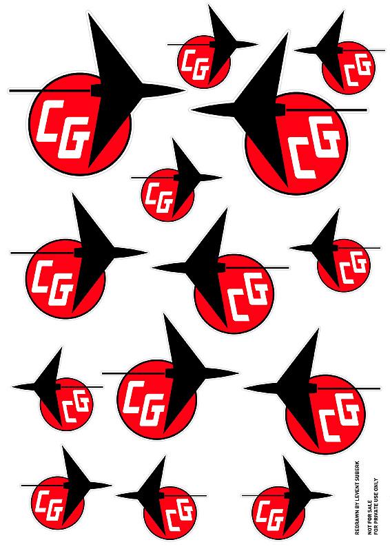 Carl Goldberg Models Emblem & Hi Thrust Viking Decals Cgoldb11