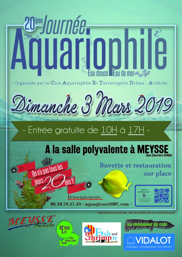 20ème Salon Aquariophile à Meysse (07), le 03 Mars 2019 Affich11