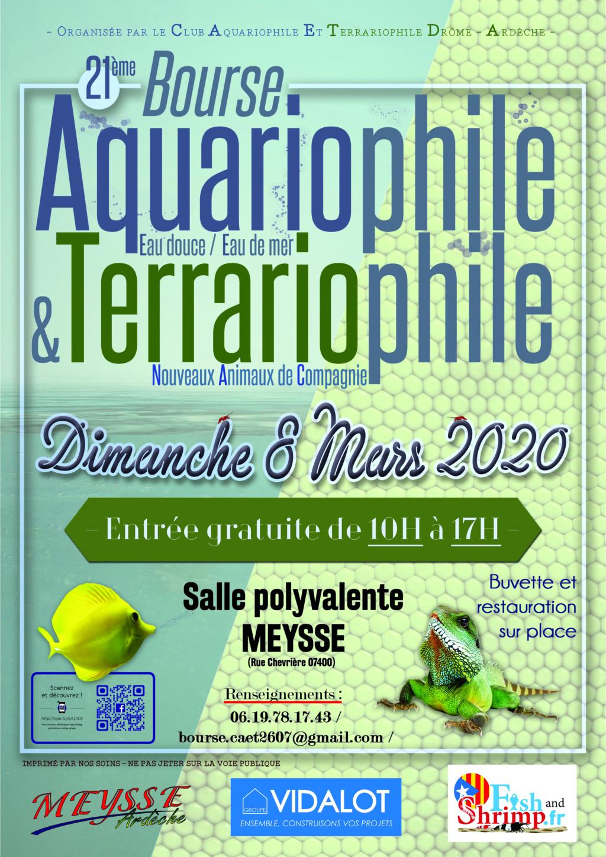 Bourse aquario/terrario de Meysse, le 8 Mars 2020. Affich15