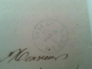 Rayon III auf Brief Rayon_18