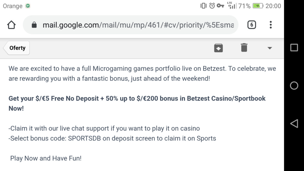 Betzest Casino 5 EUR free bonus - Page 5 Screen11