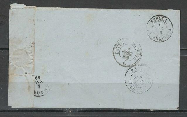 lettre pour Gerone - Espagne - 1859 Espagn10