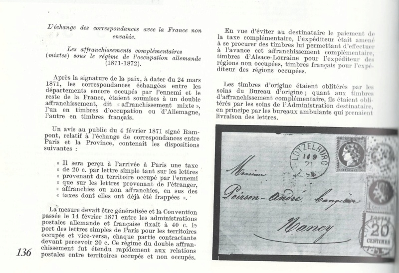 Double Affranchissement 10c Allemand + 20c francais Numzor11