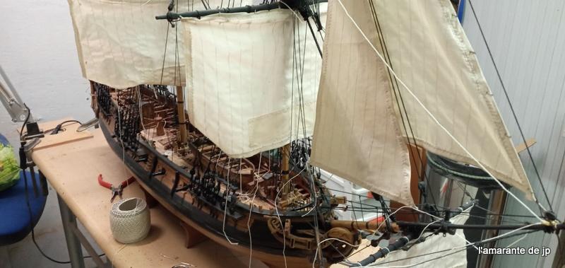l'amarante corvette de 1747  sur plan de Mr Delacroix  - Page 23 20201148