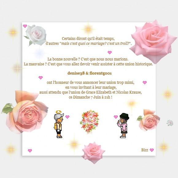Mariage de denise38 et florentg001 Carton10