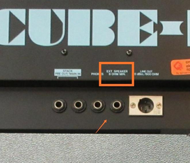 Usando saída para speaker Roland super cube 100 bass Img_2016
