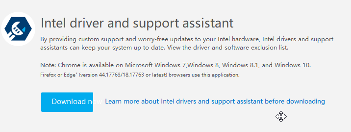 Cannot change Windows functionality, Intel driver assistant cannot be used, open error Snipas13